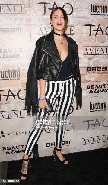 Actress Eiza Gonzalez Attends day one of TAO Beauty Essex Avenue and Luchini LA Grand Opening on March 16 2017 in Los Angeles California