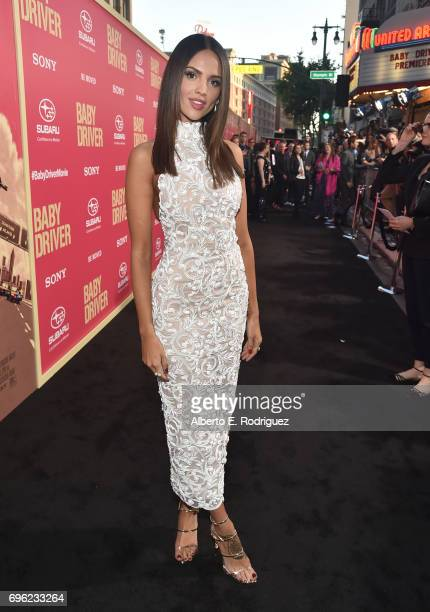 Actress Eiza Gonzalez attends the premiere of Sony Pictures' 'Baby Driver' at Ace Hotel on June 14 2017 in Los Angeles California