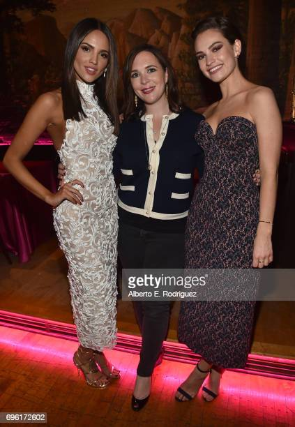 Actress Eiza Gonzalez Hannah Minghella President of TriStar Pictures and actress Lily Jamesattend the after party for the premiere of Sony Pictures'...