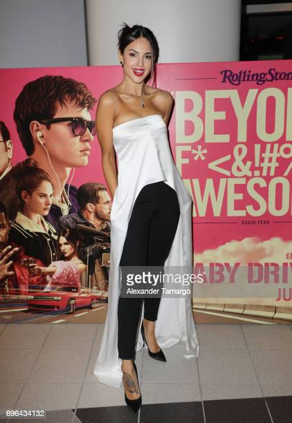 Actress Eiza Gonzalez Introduces a Special Screening of 'Baby Driver' at Regal South Beach on June 15 2017 in Miami Florida