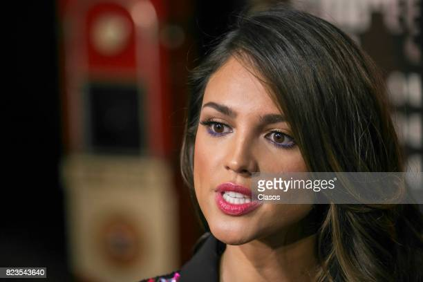 Actress Eiza Gonzalez looks on during the 'Baby Driver' Mexico City premier at Cinemex Antara Polanco on July 26 2017 in Mexico City Mexico