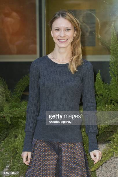 Actress Ekaterina Buscemi attends the photocall of the movie 'La ragazza nella Nebbia' at Hotel Le Meridien Visconti in Rome Italy on October 24 2017