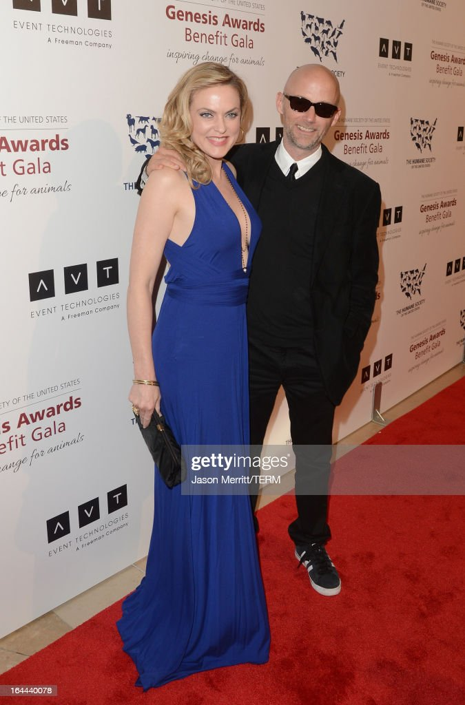 Actress Elaine Hendrix and musician Moby attend The Humane Society of the United States 2013 Genesis Awards Benefit Gala at The Beverly Hilton Hotel on March 23, 2013 in Los Angeles, California.