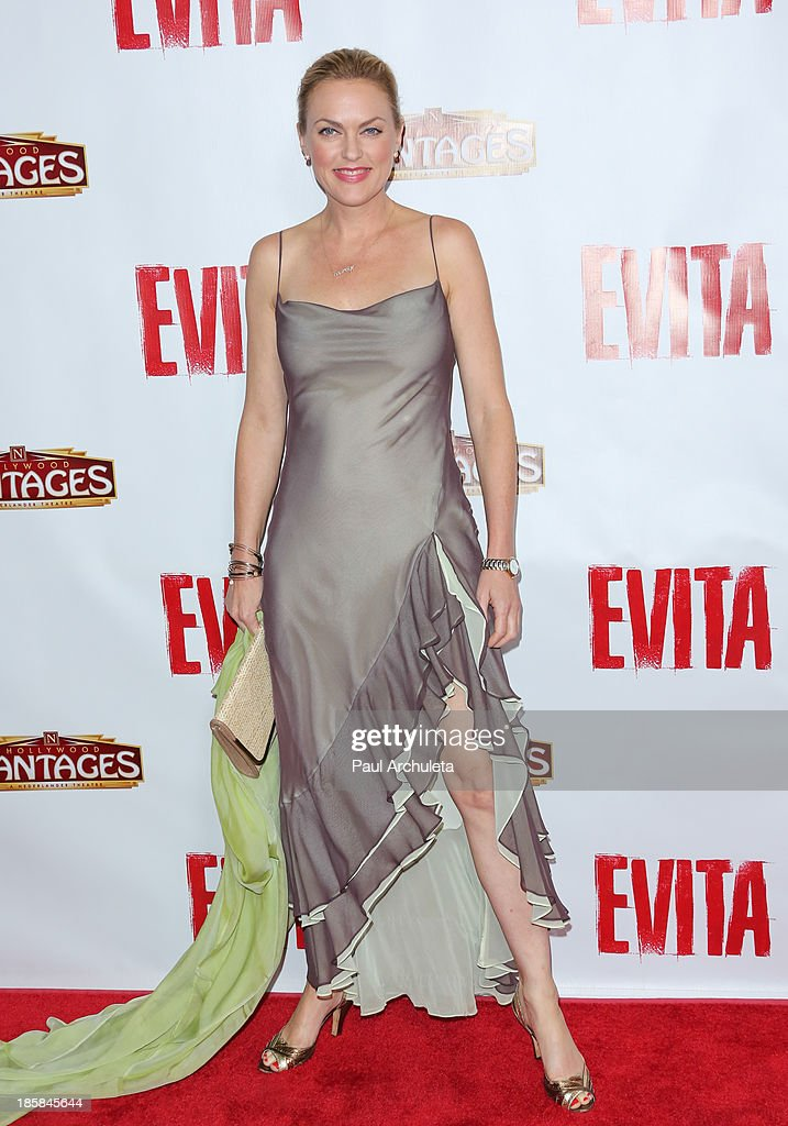 Actress <a gi-track='captionPersonalityLinkClicked' href=/galleries/search?phrase=Elaine+Hendrix&family=editorial&specificpeople=584608 ng-click='$event.stopPropagation()'>Elaine Hendrix</a> attends the opening night of 'Evita' at the Pantages Theatre on October 24, 2013 in Hollywood, California.