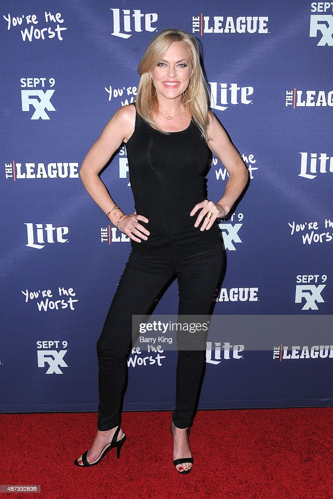 Actress Elaine Hendrix attends the premiere of FXX's 'The League' final season and 'You're The Worst' 2nd season at the Regency Bruin Theater on September 8, 2015 in Westwood, California.