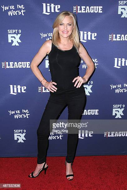 Actress Elaine Hendrix attends the premiere of FXX's 'The League' final season and 'You're The Worst' 2nd season at the Regency Bruin Theater on...