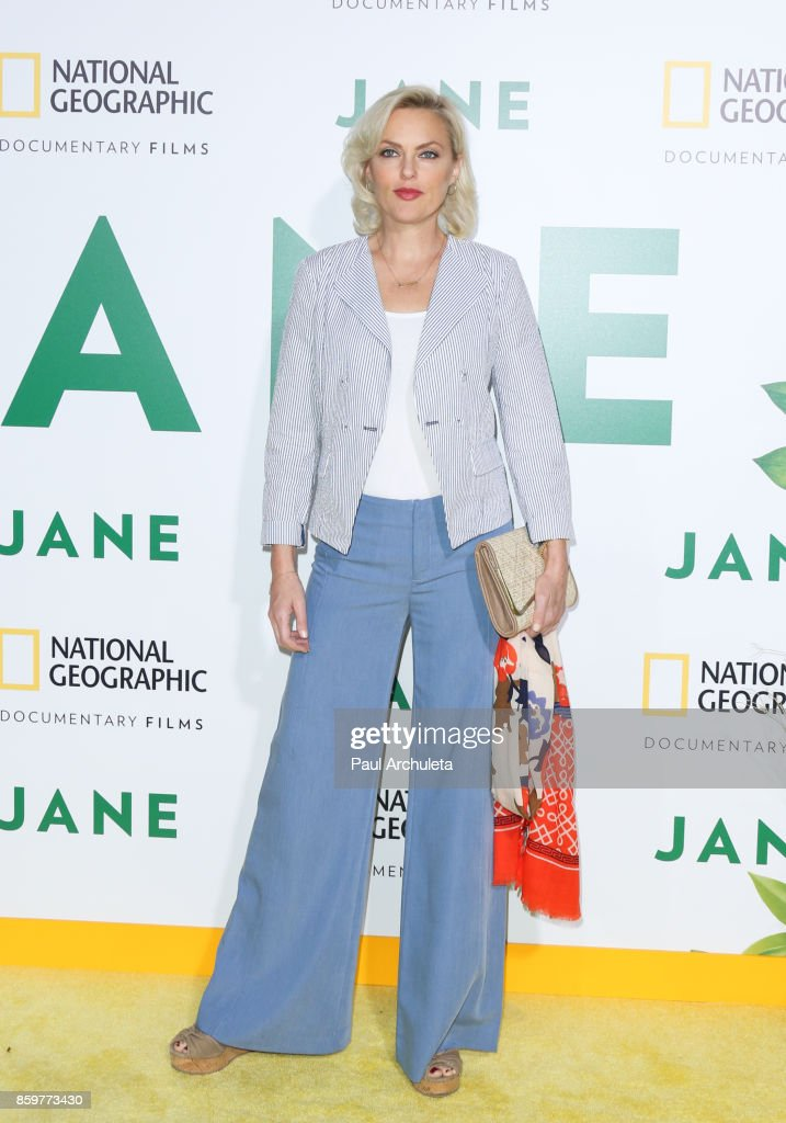 Actress Elaine Hendrix attends the premiere of National Geographic documentary films' 'Jane' at the Hollywood Bowl on October 9, 2017 in Hollywood, California.