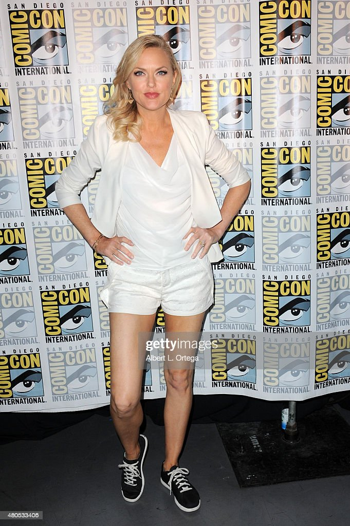 Actress Elaine Hendrix speaks onstage at the FX TV Block featuring 'Sex&Drugs&Rock&Roll,' 'The Strain,' and a sneak peek of 'The Bastard Executioner' panel during Comic-Con International 2015 at the San Diego Convention Center on July 12, 2015 in San Diego, California.