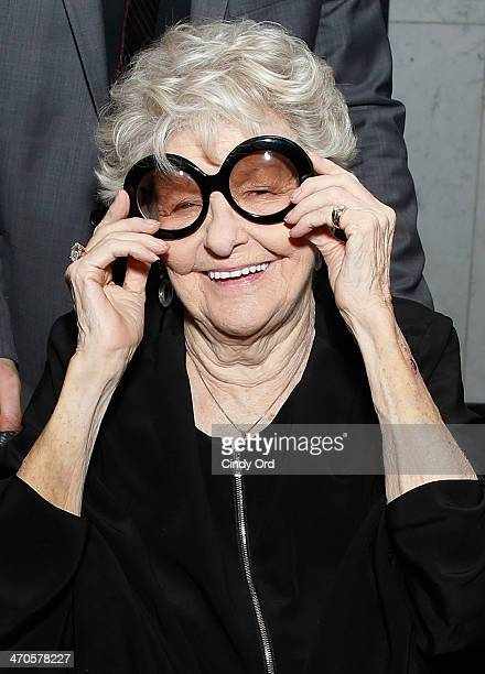 Actress Elaine Stritch attends the 'Elaine Stritch Shoot Me' screening reception at Paley Center For Media on February 19 2014 in New York City