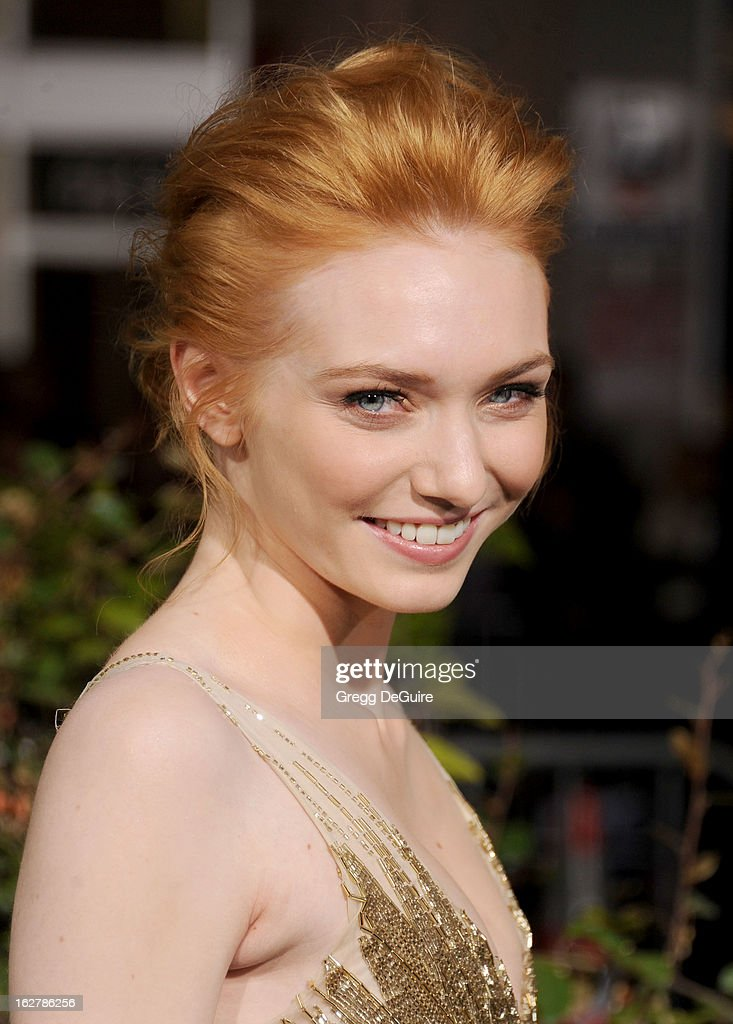 Actress Eleanor Tomlinson arrives at the Los Angeles premiere of 'Jack The Giant Slayer' at TCL Chinese Theatre on February 26, 2013 in Hollywood, California.