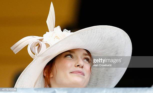 Actress Eleanor Tomlinson attends day 3 of Royal Ascot 2015 at Ascot racecourse on June 18 2015 in Ascot England
