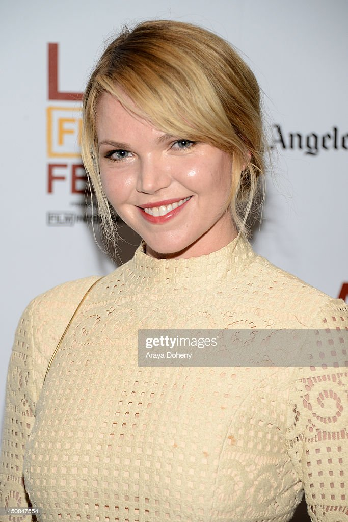 Actress Eleanor Wells attends the premiere of 'The Road Within' during the 2014 Los Angeles Film Festival at Regal Cinemas L.A. Live on June 18, 2014 in Los Angeles, California.