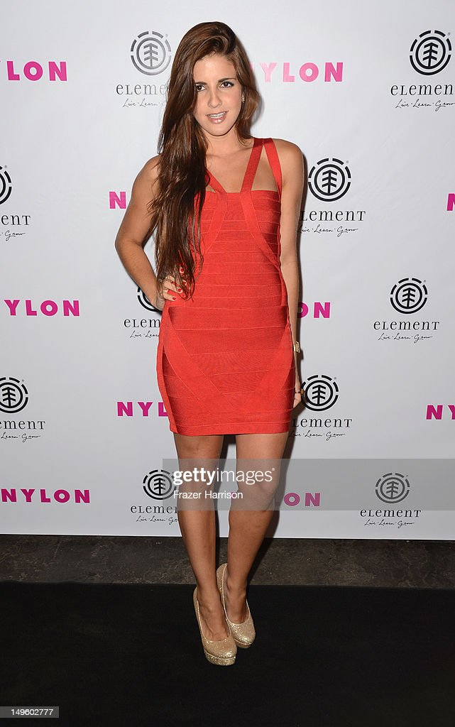 Actress Electra Avellan arrives at NYLON Magazine August Issue Launch Party hosted by Ashley Greene at Blok on July 31, 2012 in Hollywood, California.