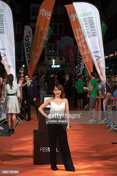 Actress Elena Alferez attends 'Olmos y Robles' premiere at the Principal Theater during FesTVal 2016 Day 2 Televison Festival on September 6 2016 in...