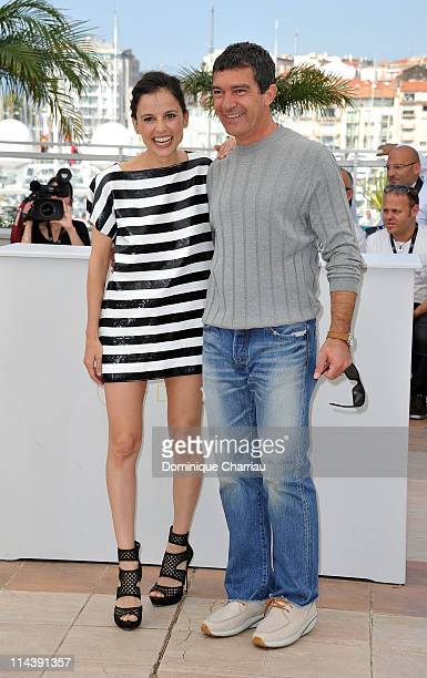 Actress Elena Anaya and actor Antonio Banderas attend 'The Skin I Live In' Photocall during the 64th Cannes Film Festival at the Palais des Festivals...
