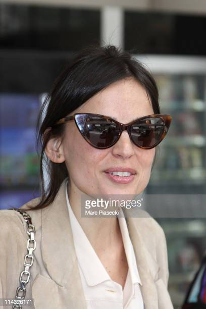 Actress Elena Anaya arrives at Nice airport for the 64th annual Cannes film Festival on May 18 2011 in Nice France