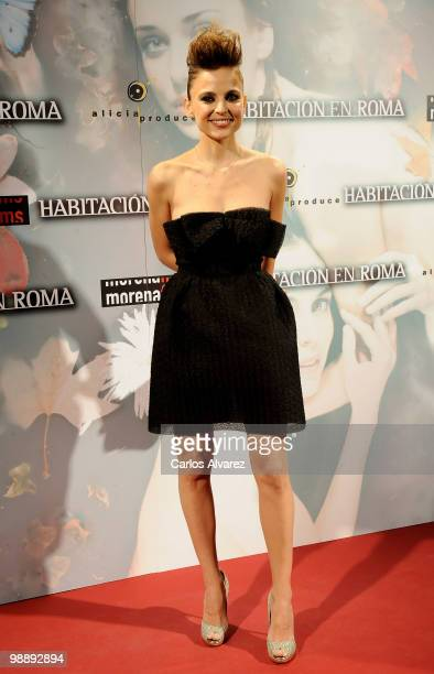 Actress Elena Anaya attends 'Habitacion en Roma' premiere at the Capitol cinema on May 6 2010 in Madrid Spain