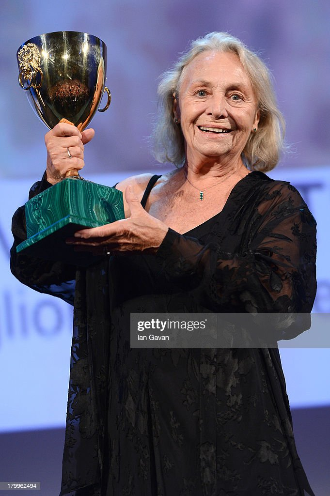 Actress Elena Cotta accepts Coppa Volpi for Best Actress for 'Via Castellana Bandiera' on stage during the Closing Ceremony at the 70th Venice International Film Festival at the Palazzo del Casino on September 7, 2013 in Venice, Italy.