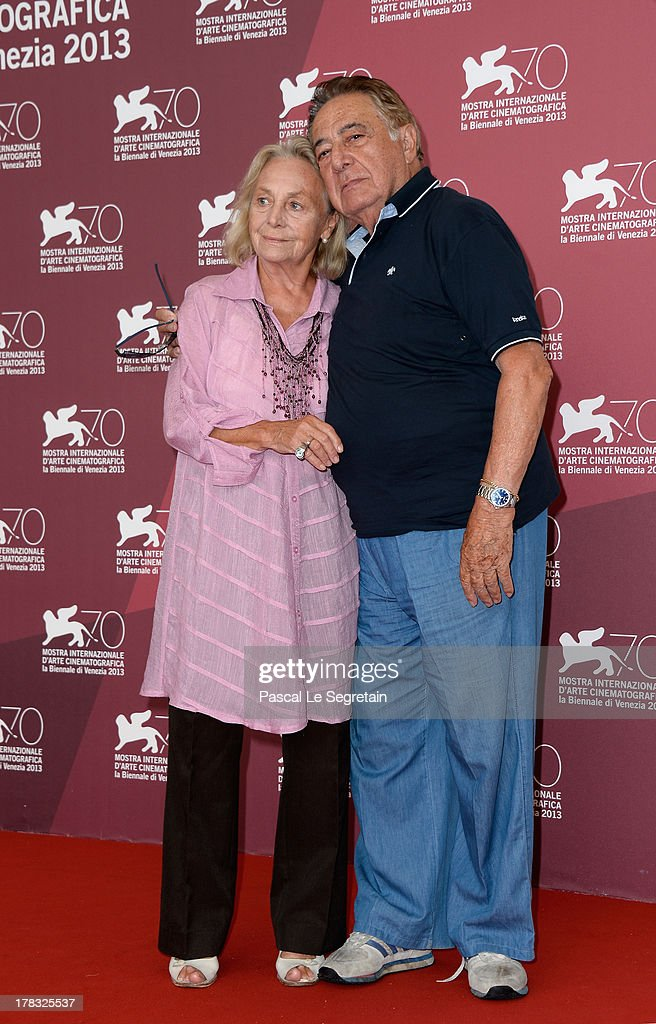 Actress Elena Cotta and her husband, actor Carlo Alighiero, attend the 'Via Castellana Bandiera' Photocall during the 70th Venice International Film Festival on August 29, 2013 in Venice, Italy