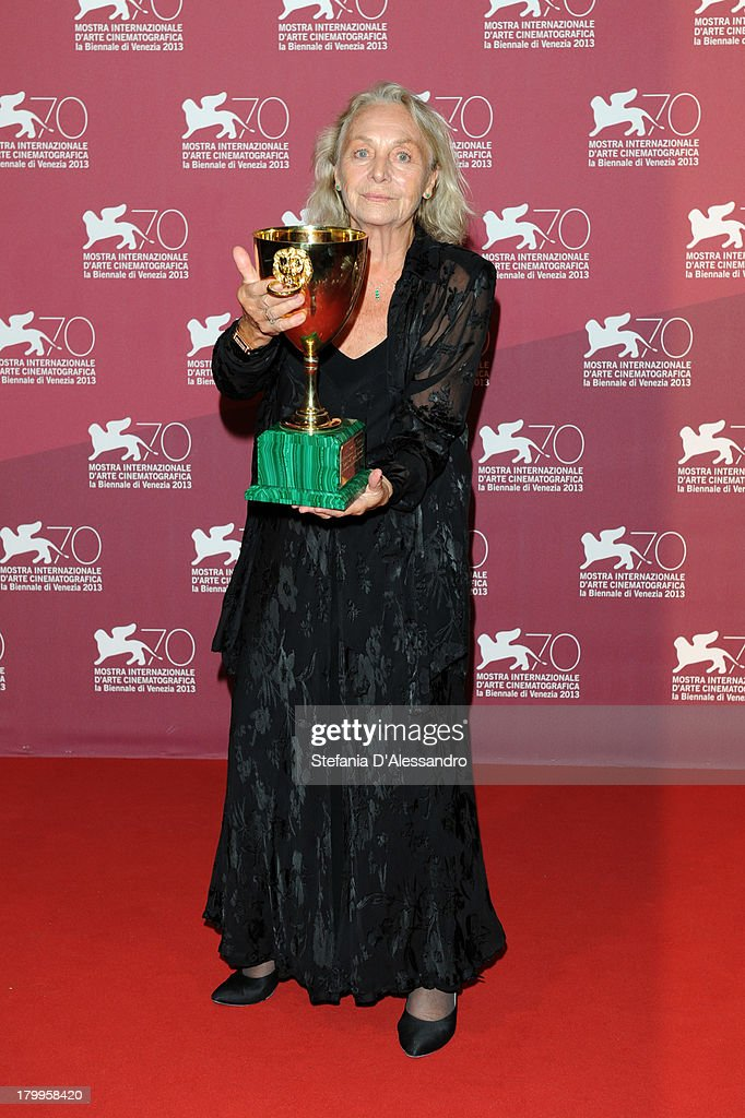 Actress <a gi-track='captionPersonalityLinkClicked' href=/galleries/search?phrase=Elena+Cotta&family=editorial&specificpeople=11308432 ng-click='$event.stopPropagation()'>Elena Cotta</a> attends Award Winners Photocall during the 70th Venice International Film Festival at Palazzo del Casino on September 7, 2013 in Venice, Italy.