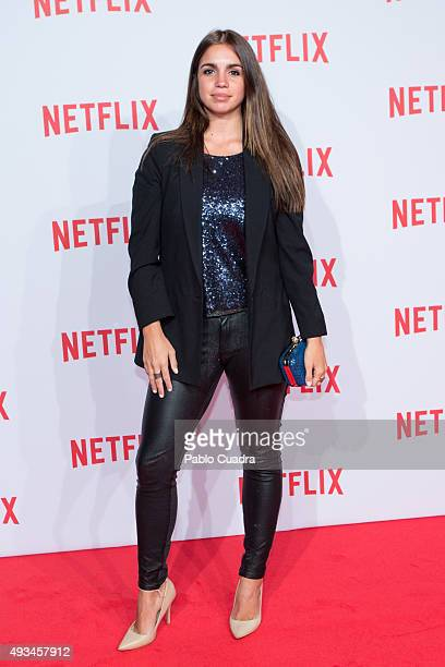 Actress Elena Furiase attends Netflix presentation Red Carpet at 'Matadero' on October 20 2015 in Madrid Spain