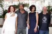 Actress Elena Morozova actor Mads Mikkelsen actress Anna Mouglalis and director Jan Kounen attend the 'Coco Chanel Igor Stravinsky' Photo Call at the...