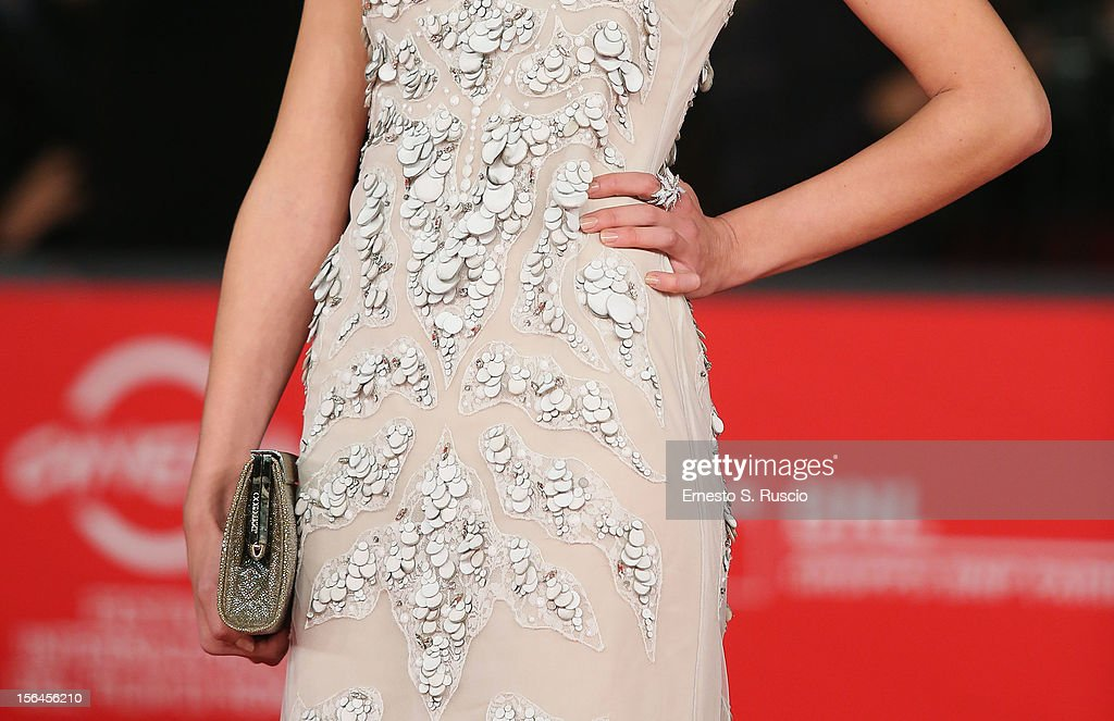 Actress Elena Radonicich (detail) attends the 'Tutto Parla Di Te' Premiere during the 7th Rome Film Festival at the Auditorium Parco Della Musica on November 15, 2012 in Rome, Italy.