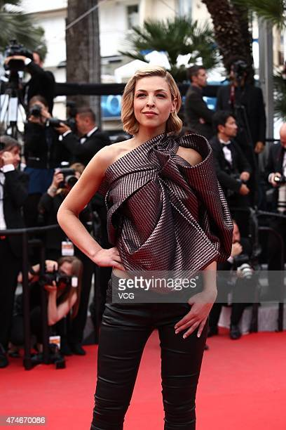 Actress Eleonore Boccara attends the closing ceremony and 'Le Glace Et Le Ciel' Premiere during the 68th annual Cannes Film Festival on May 24 2015...