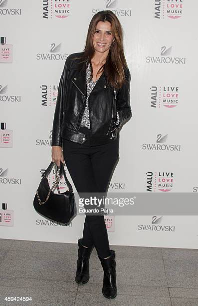 Actress Elia Galera attends Malu concert photocall at Barclaycard Center on November 22 2014 in Madrid Spain