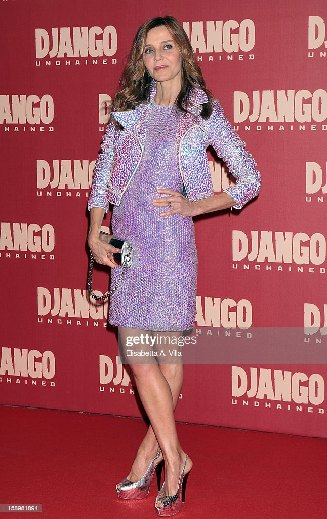 Actress Eliana Miglio attends 'Django Unchained' premiere at Cinema Adriano on January 4, 2013 in Rome, Italy.