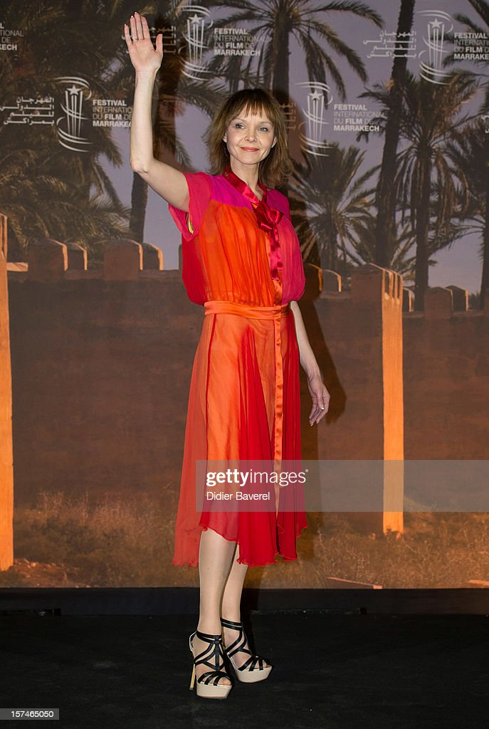 Actress Elina Reinold poses during a photocall of the movie ' Mushrooming' at the 12th International Marrakech Film Festival on December 3, 2012 in Marrakech, Morocco.
