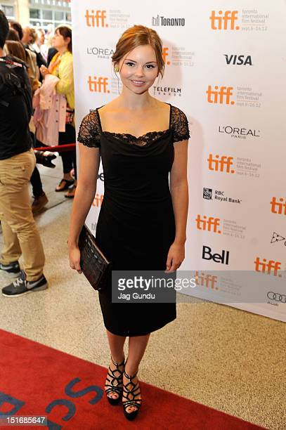 Actress Eline Powell arrives at the 'Quartet' Premiere at the 2012 Toronto International Film Festival at The Elgin on September 9 2012 in Toronto...