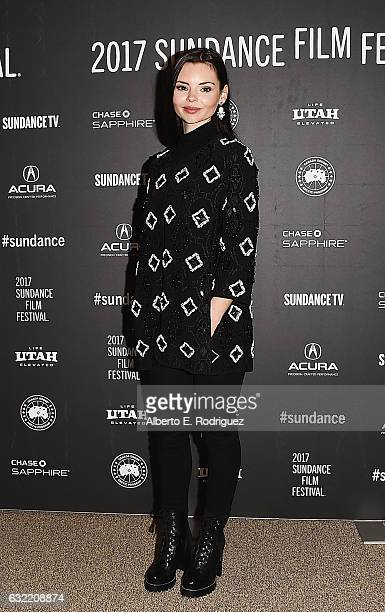 Actress Eline Powell attends the 'Novitate' premiere during day 2 of the 2017 Sundance Film Festival at Eccles Center Theatre on January 20 2017 in...