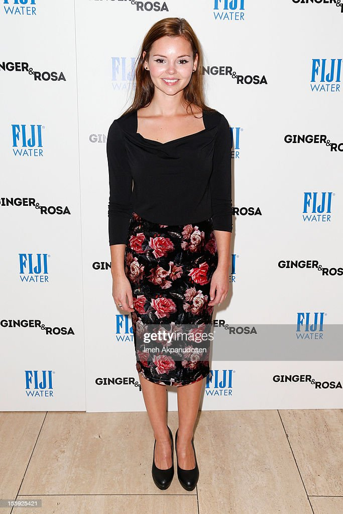 Actress Eline Powell attends the screening of A24 Films' 'Ginger & Rosa' at The Paley Center for Media on November 8, 2012 in Beverly Hills, California.