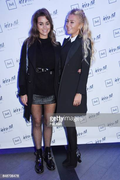 Actress Elisa Bachir Bey and designer Julia Battaia attend 'Identik' by M Pokora Launch Party at Duplex Club on September 17 2017 in Paris France