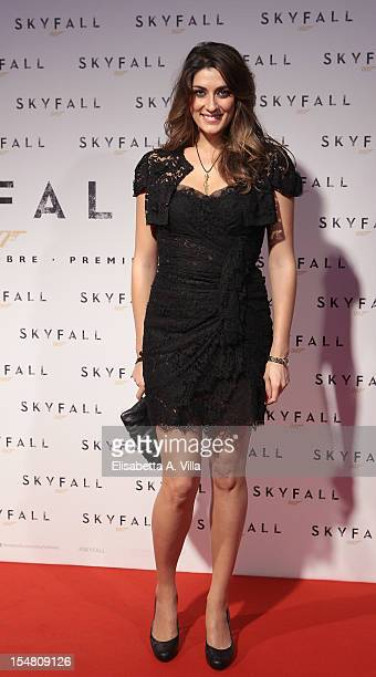 Actress Elisa Isoardi attends 'Skyfall' Rome Premiere at Warner Cinema Moderno on October 26 2012 in Rome Italy