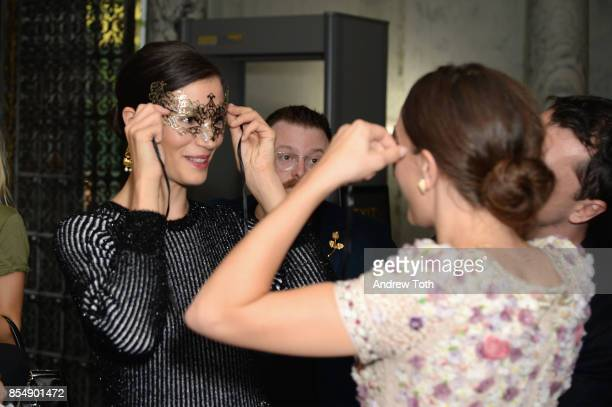 Actress Elisa Lasowski attends as Ovation TV celebrates the US launch of Versailles Season Two at The French Embassy on September 27 2017 in New York...