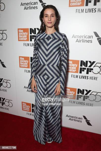 Actress Elisa Lasowski attends the Last Flag Flying NYFF World Premiere on September 28 2017 at Alice Tully Hall in New York City