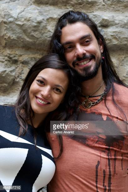 Actress Elisa Mouliaa and singer Rash attend the 'Cielo con Diamantes' photocall at the Villa Suso Palace during the 6th FesTVal Television Festival...