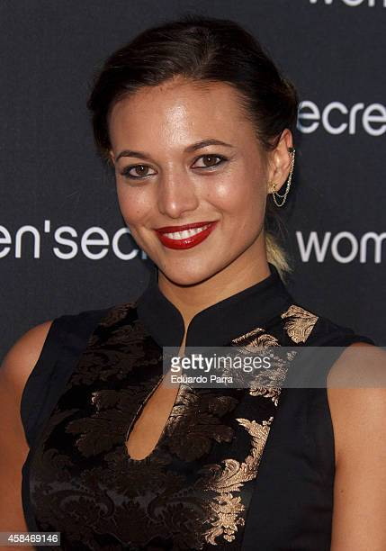 Actress Elisa Mouliaa attends 'Dark Seduction' fashion film premiere photocall at Callao City Lights on November 5 2014 in Madrid Spain