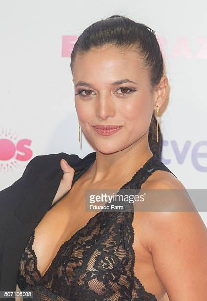 Actress Elisa Mouliaa attends 'Embarazados' premiere at Capitol cinema on January 27 2016 in Madrid Spain