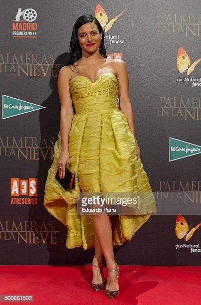 Actress Elisa Mouliaa attends 'Palmeras en la nieve' premiere at Kinepolis cinema on December 9 2015 in Madrid Spain