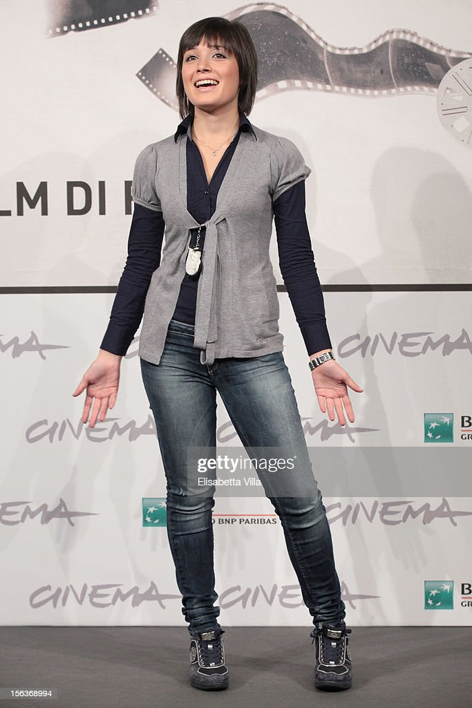 Actress Elisa Pennisi attend the 'Acqua Fuori Dal Ring/La Prima Legge Di Newton' Photocall during the 7th Rome Film Festival at the Auditorium Parco Della Musica on November 14, 2012 in Rome, Italy.