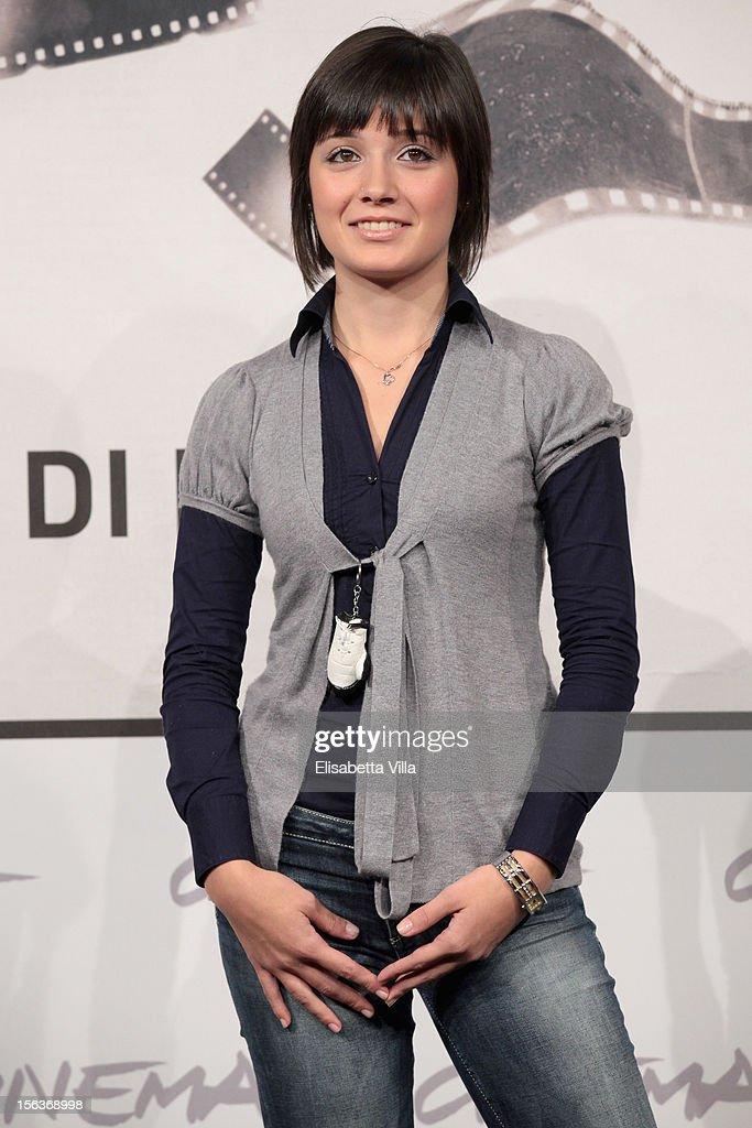 Actress Elisa Pennisi attend the 'Acqua Fuori Dal Ring/La Prima Legge Di Newton' Photocall during the 7th Rome Film Festival at the Auditorium Parco Della Musica on November 14, 2012 in Rome, Italy.