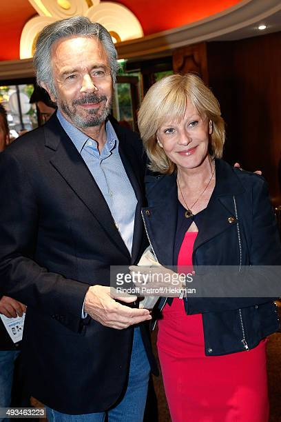 Actress Elisa Servier and Pascal Cromback attend the 'Bigard Fete Ses 60 Ans' One Man Show at Le Grand Rex on May 23 2014 in Paris France