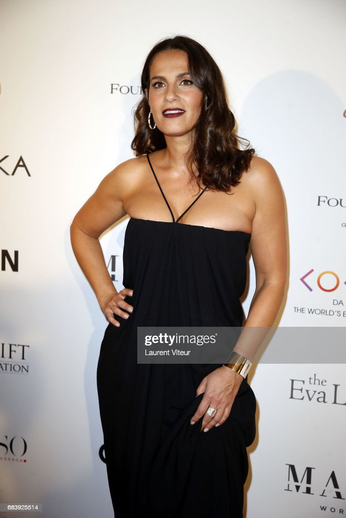 Actress Elisa Tovati attends Global Gift Gala 2017 at Hotel George V on May 16, 2017 in Paris, France.