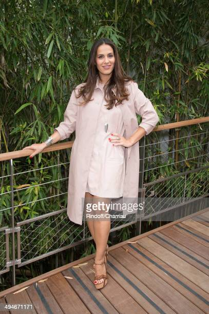 Actress Elisa Tovati attends the Roland Garros French Tennis Open 2014 Day 6 at Roland Garros on May 30 2014 in Paris France
