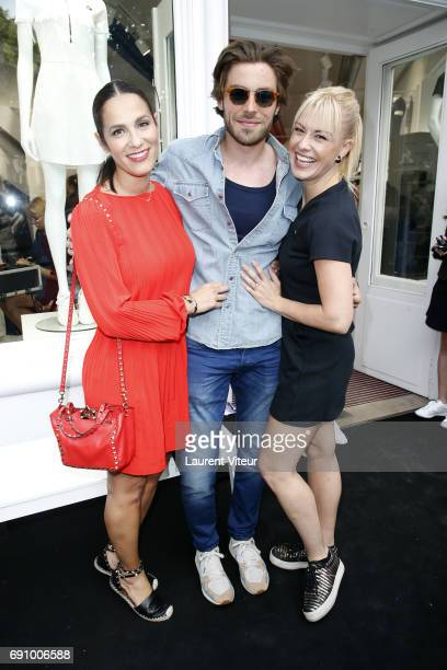 Actress Elisa Tovati Model Valentin D'Hoore and Dancer Katrina Patchett attend 'Le Coq Sportif x Guerlain' at Le Coq Sportif Flagship on May 31 2017...