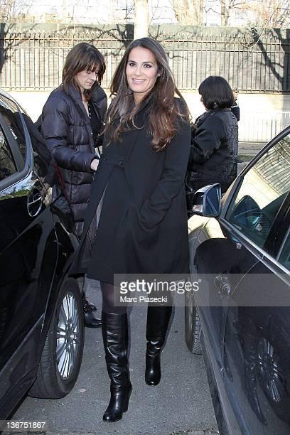 Actress Elisa Tovati part of 'La Verite Si Je Mens 3' cast arrives at Studio Gabriel for the recording of 'Vivement Dimanche' broadcast January 11...