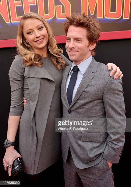 Actress Elisabeth Harnois and actor Seth Green arrive at the premiere of Walt Disney Pictures' 'Mars Needs Moms' held at the El Capitan Theatre on...